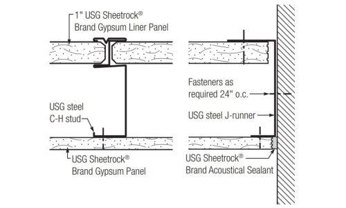 Ceiling Membrane of 1-Hour Corridor