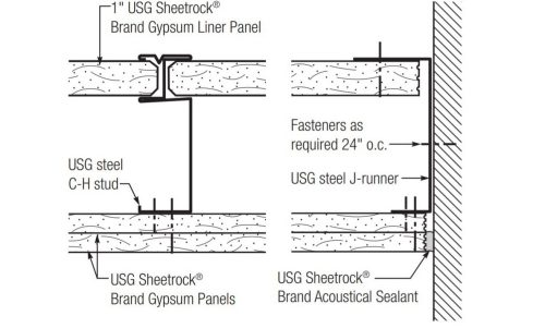 Ceiling Membrane of 2-Hour Corridor