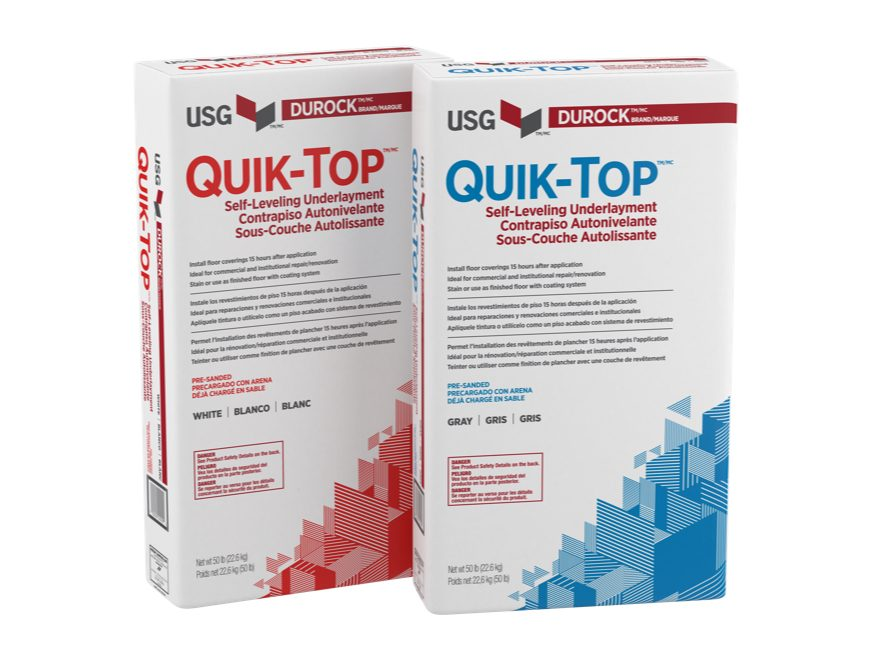 Durock™ Brand Quik-Top™ Self-Leveling Underlayment | USG