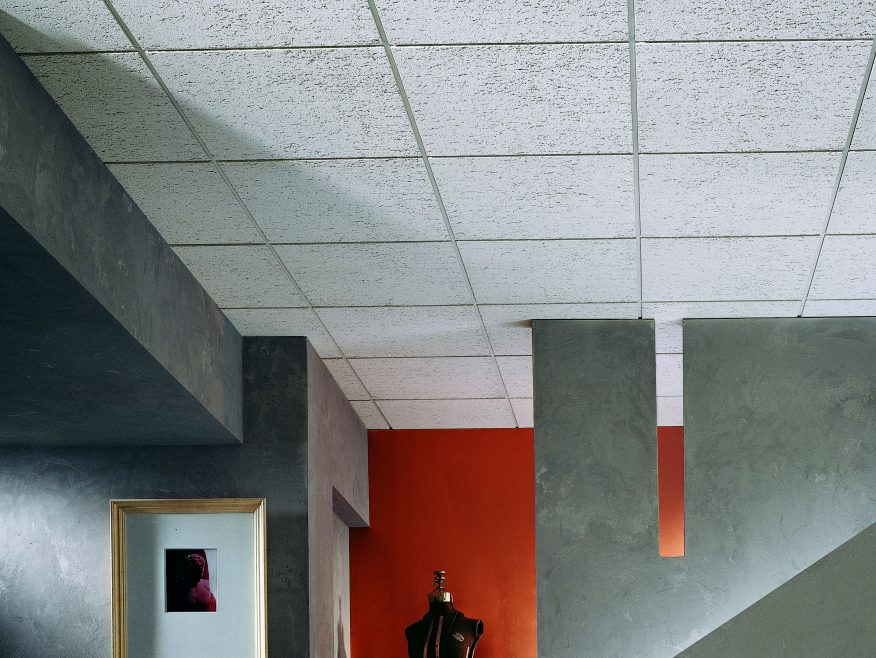 F Fissured Basic Acoustical Ceiling Panels Sound Absorbing