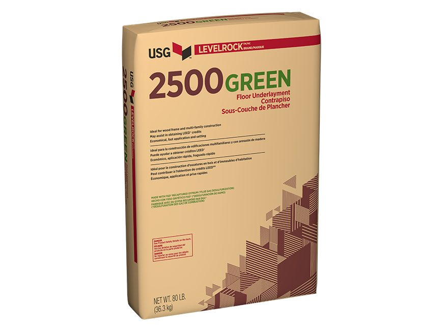 Levelrock 174 Brand 2500 Series Floor Underlayments Usg