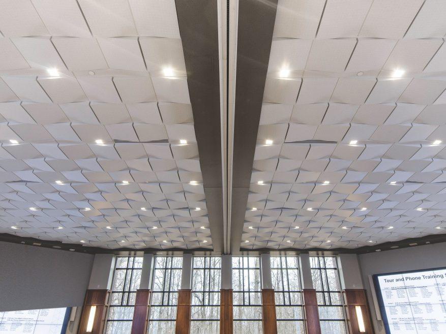 Geometrix™ 3-dimensional metal ceiling panels | 3d metal ceiling.